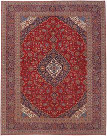 Keshan Matta 300X395 Äkta Orientalisk Handknuten Mörkröd/Mörkbrun Stor (Ull, Persien/Iran)