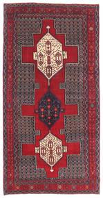 Senneh Patina Matta 145X299 Äkta Orientalisk Handknuten Mörkbrun/Röd (Ull, Persien/Iran)