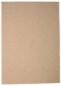 Kelim Loom - Beige Matta 250X350 Äkta Modern Handvävd Ljusbrun/Ljusgrå Stor (Ull, Indien)