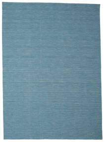 Kelim Loom - Blå Matta 250X350 Äkta Modern Handvävd Turkosblå/Blå/Ljusblå Stor (Ull, Indien)