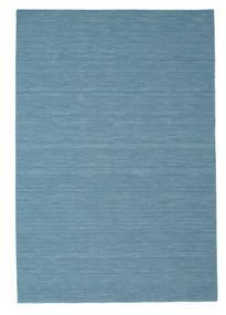 Kelim Loom - Blå Matta 200X300 Äkta Modern Handvävd Turkosblå/Ljusblå (Ull, Indien)