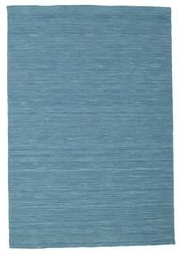 Kelim Loom - Blå Matta 120X180 Äkta Modern Handvävd Turkosblå/Blå (Ull, Indien)