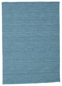 Kelim Loom - Blå Matta 140X200 Äkta Modern Handvävd Turkosblå/Blå (Ull, Indien)