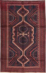 Lori Matta 160X255 Äkta Orientalisk Handknuten Svart/Mörkröd (Ull, Persien/Iran)