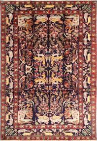 Bakhtiyar Figural Matta 231X332 Äkta Orientalisk Handknuten Mörkröd/Svart (Ull, Persien/Iran)