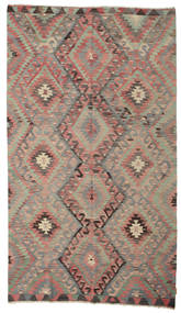 Kelim Semiantik Turkisk Matta 176X306 Äkta Orientalisk Handvävd Brun/Mörkröd (Ull, Turkiet)