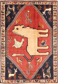 Ghashghai Matta 125X177 Äkta Orientalisk Handknuten Mörklila/Mörkröd (Ull, Persien/Iran)