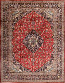 Keshan Matta 310X405 Äkta Orientalisk Handknuten Mörkröd/Roströd Stor (Ull, Persien/Iran)