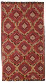 Kelim Semiantik Turkisk Matta 175X318 Äkta Orientalisk Handvävd Mörkröd/Mörkbrun (Ull, Turkiet)