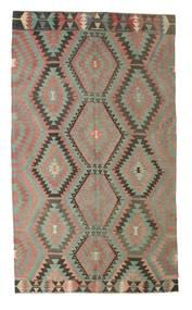 Kelim Semiantik Turkisk Matta 176X300 Äkta Orientalisk Handvävd Ljusgrå/Mörkgrå (Ull, Turkiet)