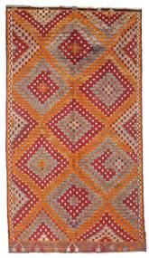 Kelim Semiantik Turkisk Matta 170X306 Äkta Orientalisk Handvävd Mörkröd/Brun (Ull, Turkiet)