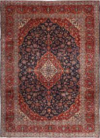 Keshan Matta 255X360 Äkta Orientalisk Handknuten Mörkröd/Mörkgrå Stor (Ull, Persien/Iran)