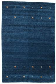 Gabbeh Loom Two Lines - Mörkblå Matta 190X290 Modern Mörkblå (Ull, Indien)