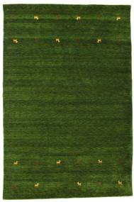 Gabbeh Loom Two Lines - Grön Matta 190X290 Modern Mörkgrön (Ull, Indien)