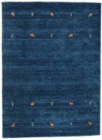 Gabbeh Loom Two Lines - Mörkblå Matta 140X200 Modern Mörkblå (Ull, Indien)