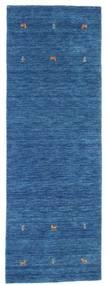 Gabbeh Loom Two Lines - Blå Matta 80X250 Modern Hallmatta Mörkblå/Blå (Ull, Indien)
