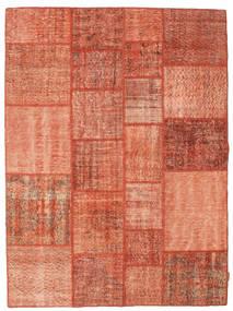 Patchwork Matta 171X232 Äkta Modern Handknuten Röd/Ljusrosa (Ull, Turkiet)