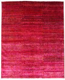 Sari Äkta Silke Matta 244X300 Äkta Modern Handknuten Röd/Rosa (Silke, Indien)