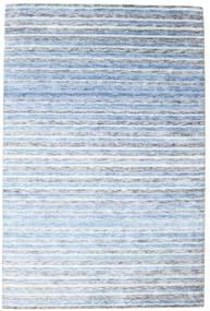 Bambu Silke Handloom Matta 202X304 Äkta Modern Handknuten Ljusblå/Beige ( Indien)