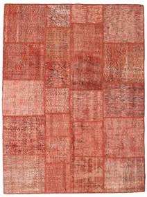 Patchwork Matta 171X230 Äkta Modern Handknuten Röd/Mörkröd/Ljusrosa (Ull, Turkiet)