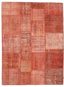 Patchwork Matta 171X231 Äkta Modern Handknuten Röd/Ljusrosa (Ull, Turkiet)