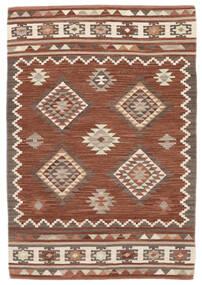 Kelim Malatya Matta 120X180 Äkta Modern Handvävd Mörkröd/Ljusbrun (Ull, Indien)
