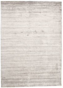 Bambu Silke Loom - Warm Grå Matta 160X230 Modern Ljusgrå/Vit/Cremefärgad ( Indien)