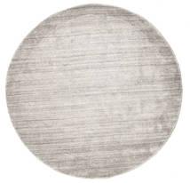 Bambu Silke Loom - Warm Grå Matta Ø 150 Modern Rund Ljusgrå ( Indien)