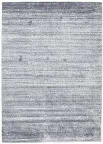 Bambu Silke Loom - Denim Blå Matta 140X200 Modern Ljusblå/Ljusgrå (Ull/Bambusilke, Indien)