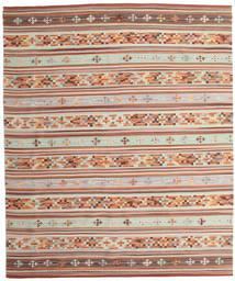 Kelim Anatolian Matta 240X290 Äkta Modern Handvävd Mörkröd/Beige (Ull, Indien)