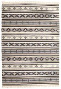 Kelim Cizre Matta 160X230 Äkta Modern Handvävd Ljusgrå/Beige (Ull, Indien)