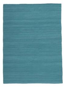 Kelim Loom - Petrolblå Matta 160X230 Äkta Modern Handvävd Blå/Turkosblå (Ull, Indien)