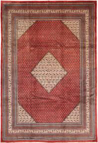 Sarough Mir Matta 258X375 Äkta Orientalisk Handknuten Mörkröd/Mörkbrun Stor (Ull, Persien/Iran)