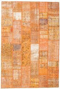 Patchwork Matta 200X298 Äkta Modern Handknuten Orange/Ljusbrun (Ull, Turkiet)