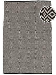 Diamond - Svart Matta 160X230 Äkta Modern Handvävd Ljusgrå/Mörkgrå (Bomull, Indien)