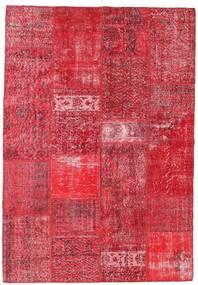 Patchwork Matta 159X229 Äkta Modern Handknuten Röd/Roströd/Rosa (Ull, Turkiet)