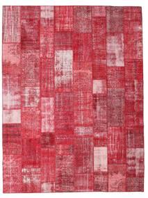 Patchwork Matta 303X402 Äkta Modern Handknuten Röd/Roströd/Rosa Stor (Ull, Turkiet)