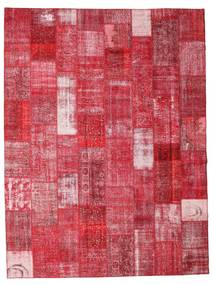 Patchwork Matta 301X400 Äkta Modern Handknuten Röd/Roströd Stor (Ull, Turkiet)