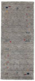 Gabbeh Loom Frame - Grå Matta 80X200 Modern Hallmatta Ljusgrå/Mörkgrå (Ull, Indien)