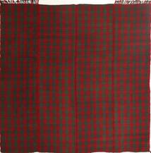 Kelim Moderna Matta 195X208 Äkta Modern Handvävd Kvadratisk Mörkröd/Mörkgrön (Ull, Persien/Iran)