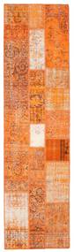 Patchwork Matta 80X301 Äkta Modern Handknuten Hallmatta Orange/Ljusbrun (Ull, Turkiet)