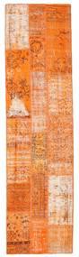 Patchwork Matta 79X300 Äkta Modern Handknuten Hallmatta Orange/Ljusbrun (Ull, Turkiet)
