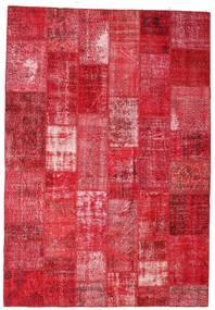 Patchwork Matta 201X295 Äkta Modern Handknuten Röd/Rosa/Roströd (Ull, Turkiet)