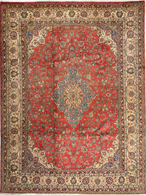 Hamadan Shahrbaf Matta 284X363 Äkta Orientalisk Handknuten Ljusbrun/Mörkbrun Stor (Ull, Persien/Iran)