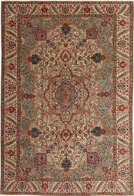 Tabriz Patina Matta 217X323 Äkta Orientalisk Handknuten Mörkbrun/Ljusbrun (Ull, Persien/Iran)