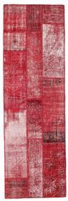 Patchwork Matta 81X252 Äkta Modern Handknuten Hallmatta Röd/Rosa (Ull, Turkiet)