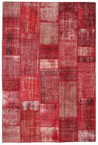 Patchwork Matta 201X305 Äkta Modern Handknuten Röd/Roströd (Ull, Turkiet)