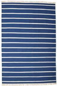 Dorri Stripe - Mörkblå Matta 220X320 Äkta Modern Handvävd Mörkblå/Blå (Ull, Indien)