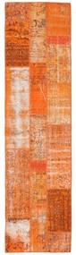 Patchwork Matta 80X305 Äkta Modern Handknuten Hallmatta Orange/Ljusbrun (Ull, Turkiet)