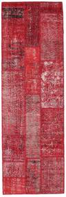 Patchwork Matta 82X254 Äkta Modern Handknuten Hallmatta Röd/Roströd (Ull, Turkiet)